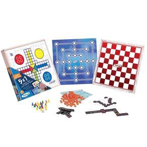 Jogo de Tabuleiro 5 em 1 Novos Jogos Classicos Xalingo 65598