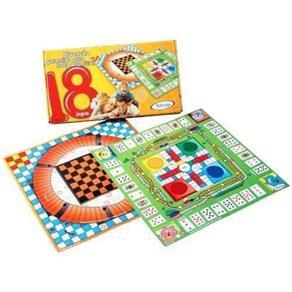 Jogo de Tabuleiro com 18 Jogos - Xalingo