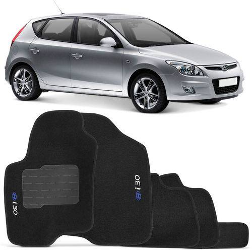 Tudo sobre 'Jogo de Tapetes Carpete Hyundai I30 2009 a 2013 Preto Bordado 5 Peças'