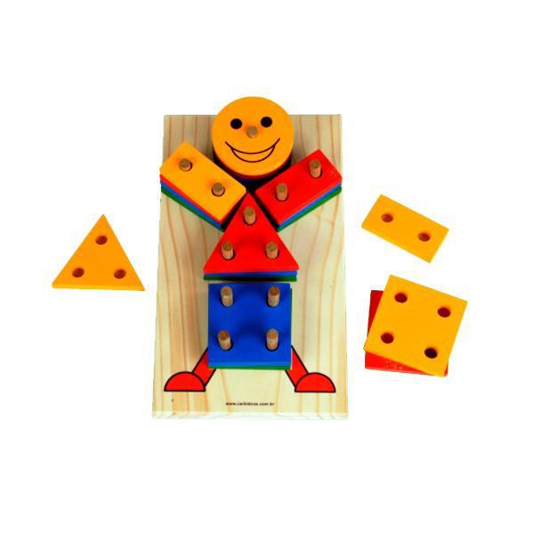 Jogo Educativo Boneco Geometrico Carimbras