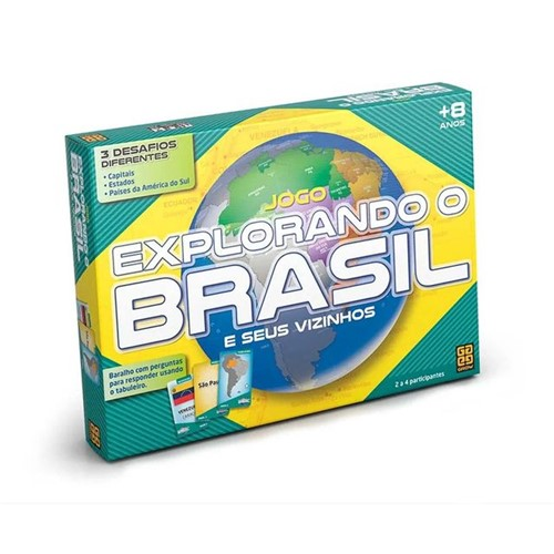 Jogo Explorando o Brasil 01658 Grow Colorido