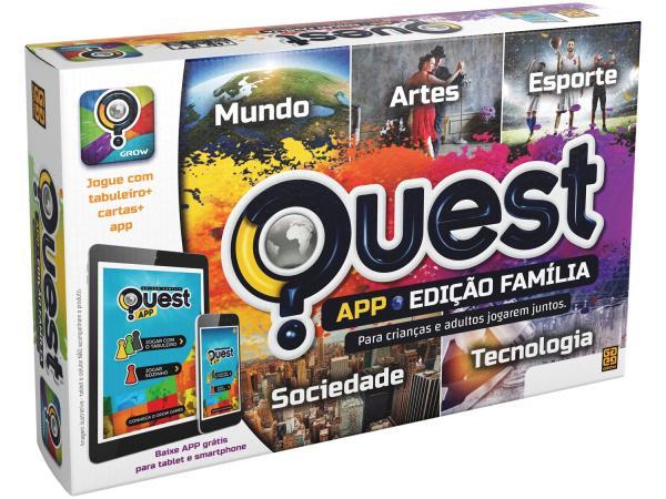 Jogo Quest Edição Família App Tabuleiro - Grow