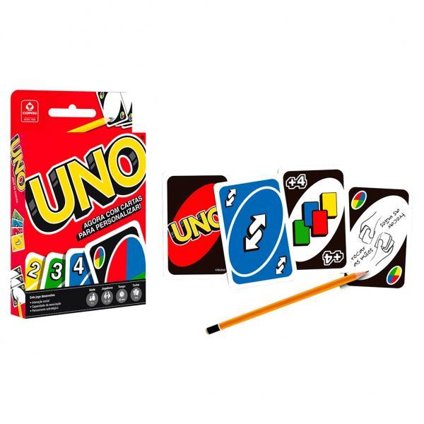 Jogo Uno Copag com Cartas para Personalizar Baralho Colorido