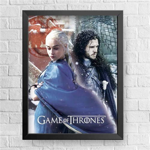 Jonerys - Game Of Thrones (Preta, 30x40cm)