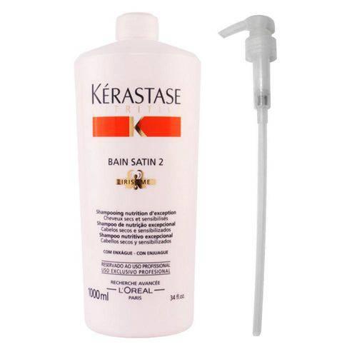 Kérastase Nutritive - Shampoo Bain Satin 2 - 01litro + Válvula