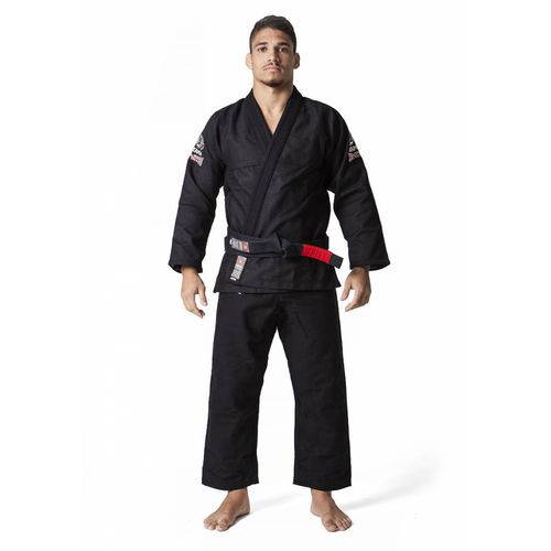 Kimono Jiu Jitsu Atama Trançado Leve - Preto