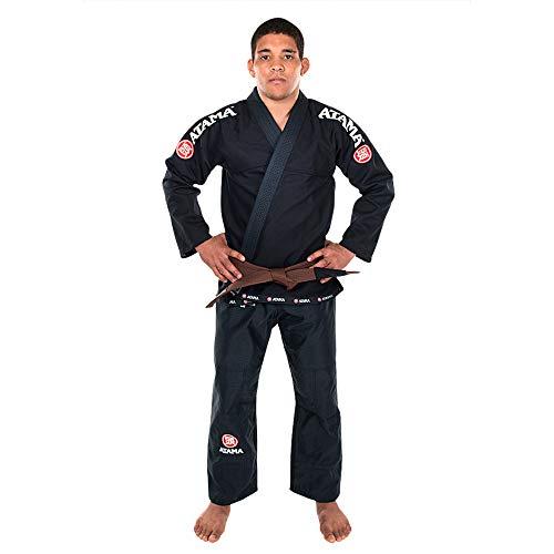 Kimono Jiu Jitsu Atama Trançado Mundial - Preto-A1