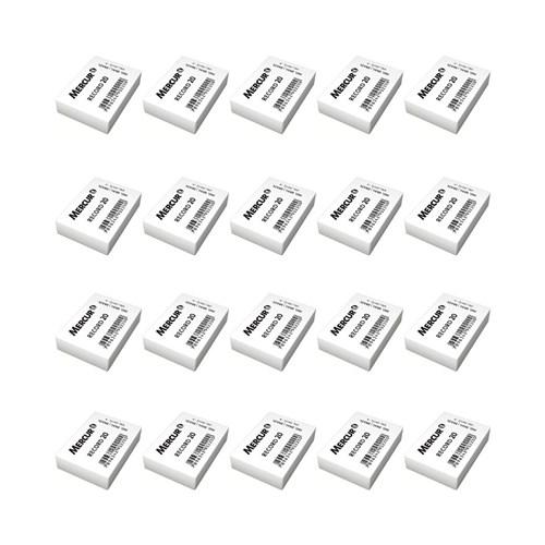 Kit 20 Borrachas Brancas Nº20 Escolar Mercur