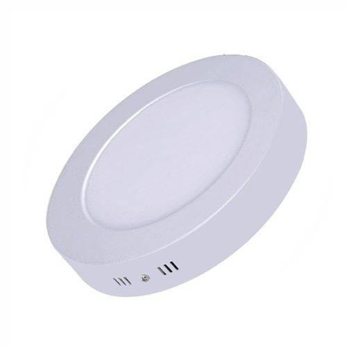 Painel Plafon Led Sobrepor Redondo 24w Luminária - Branco Quente