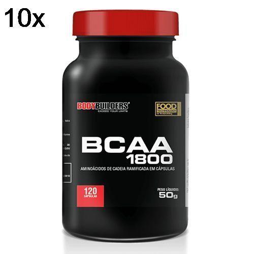 Kit 10X BCAA 1800 - 120 Cápsulas - BodyBuilders