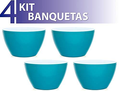 Kit 4 Banquetas Oxy Color Azul