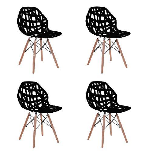 Kit 4 Cadeiras Akron Preta