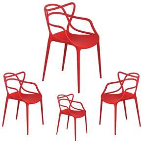Kit 4 Cadeiras Allegra - Dealve-1259 - VERMELHO