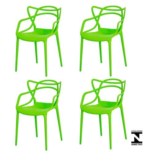 Kit 4 Cadeiras Allegra Verde
