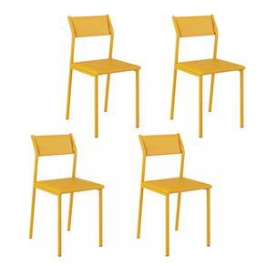 Kit 4 Cadeiras Carraro- 1709 - 1709 - Amarelo