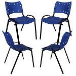 Kit 4 Cadeiras Colors Azul