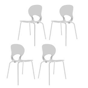 Kit 4 Cadeiras Eclipse - Branco
