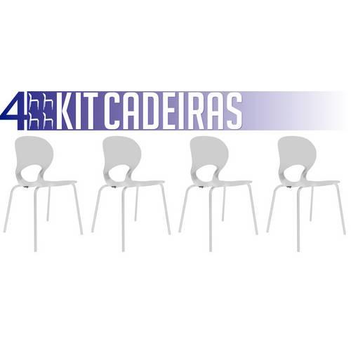 Kit 4 Cadeiras Eclipse Branco