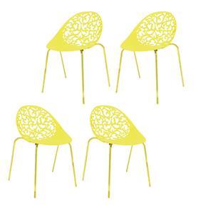 Kit 4 Cadeiras Fiorita - Amarelo