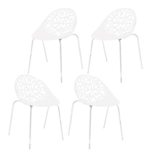 Kit 4 Cadeiras Fiorita Branco I´M In