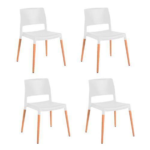 Kit 4 Cadeiras Marina Branca Gardenlife