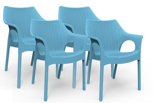 Kit 4 Cadeiras Relic Azul Índigo - Im In