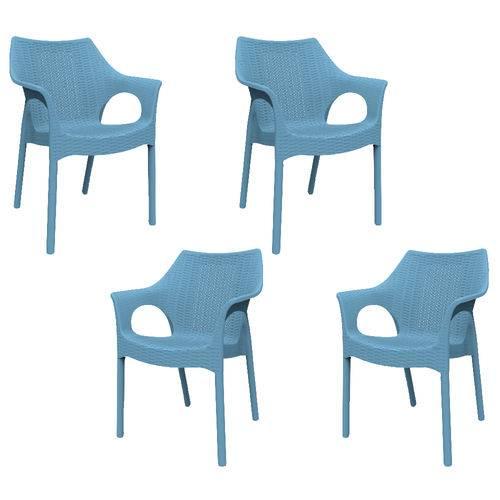 Kit 4 Cadeiras Relic Azul ÍNDIGO