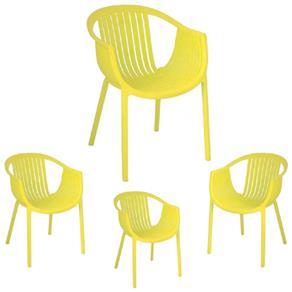 Kit 4 Cadeiras Tatami - Dettam-1229 - AMARELO
