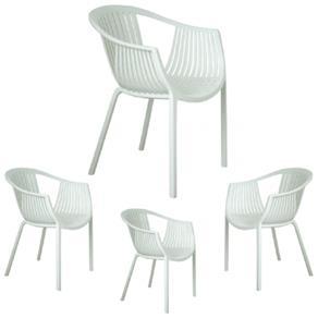 Kit 4 Cadeiras Tatami - Dettbr-1245 - BRANCO
