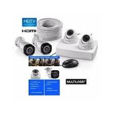 Kit 4 Cameras de Segurança Multilaser