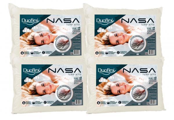 Kit 4 Travesseiros Nasa Alto Luxo 50x70cm - Duoflex