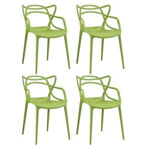 KIT - 4 X Cadeiras Allegra - VERDE