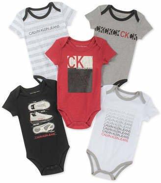 Tudo sobre 'Kit 5 Bodys Calvin Klein (CALVIN KLEIN, 12 Meses)'