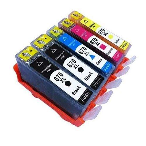 Tudo sobre 'Kit 5 Cartuchos Compatíveis Hp 670 Xl 670xl para 4615 4625'