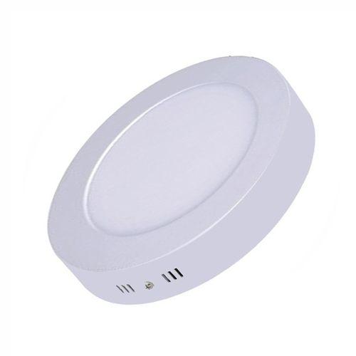 Painel Plafon Led Sobrepor Redondo 6w Luminária - Branco Quente