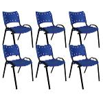 Kit 6 Cadeiras Colors Azul