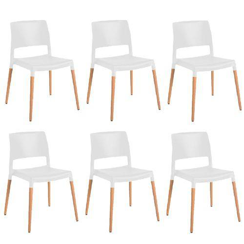 Kit 6 Cadeiras Marina Branca Gardenlife