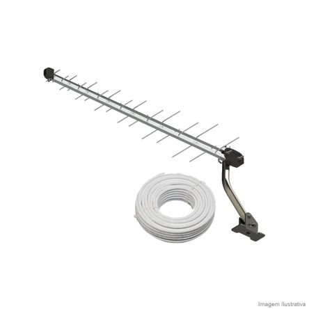 Tudo sobre 'Kit Antena LOG Digital/HDTV/UHF SL2800K Brasforma'