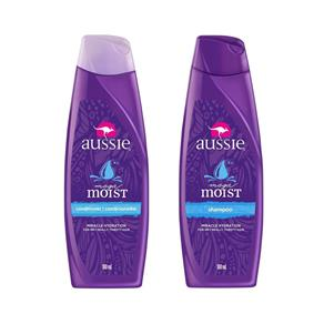 Kit Aussie Moist 180ml: Shampoo + Condicionador