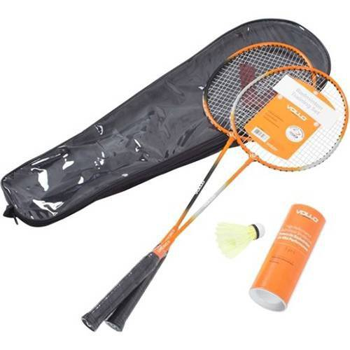 Tudo sobre 'Kit Badminton Vollo 2 Raquetes e 3 Petecas de Nylon'