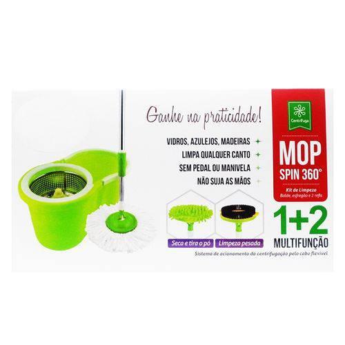 Tudo sobre 'Kit Balde Spin Mop Centrifuga em Inox 3 em 1 Profissional para Limpeza Pesada, Pó e Sujeira Molhada'