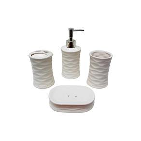 Kit Banheiro Branco com 4 Peças