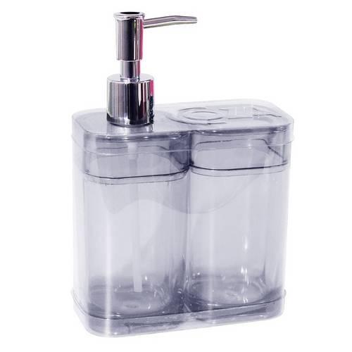 Tudo sobre 'Kit Banheiro Splash Cristal 2 Peças - Coza'