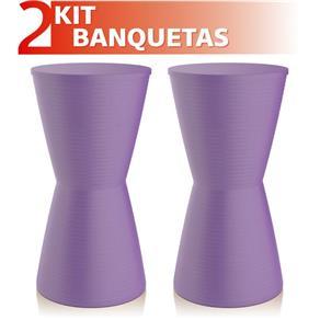 Kit 2 Banquetas Dub Color - Lilás