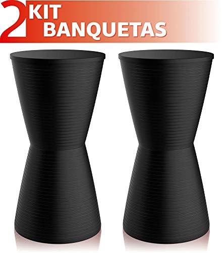 Kit 2 Banquetas Dub Color Preto