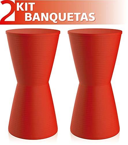 Kit 2 Banquetas Dub Color Vermelho