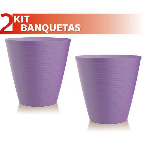 Kit 2 Banquetas Fluo Color Roxo