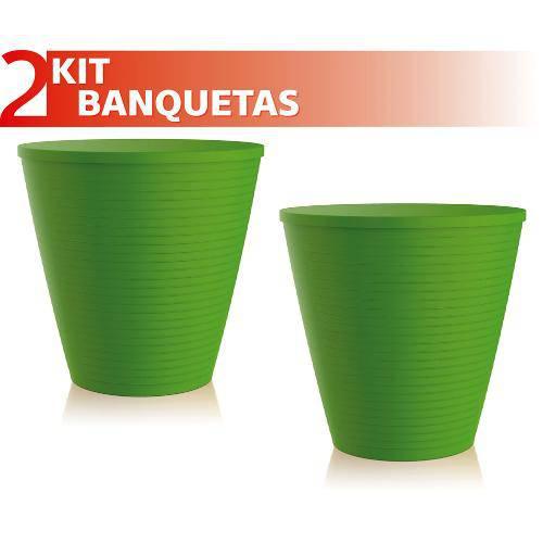 Kit 2 Banquetas Fluo Color Verde