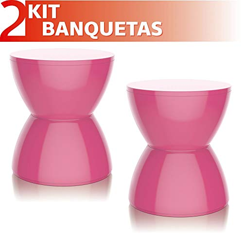 Kit 2 Banquetas Hydro Color Rosa
