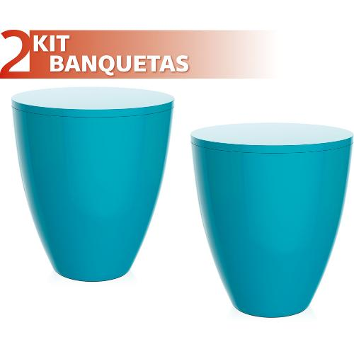 Kit 2 Banquetas Moly Color Azul